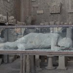 Plaster cast of an actual Pompeii resident