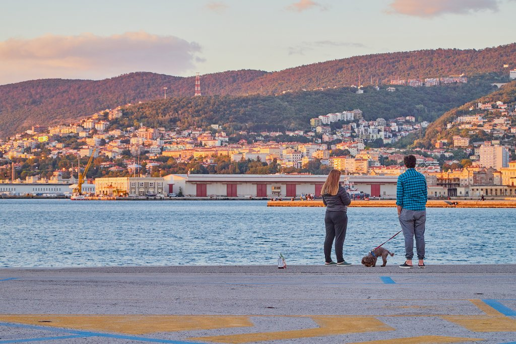 Seafront promenade in Trieste