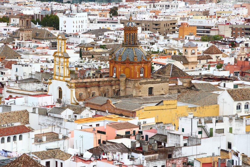 View of the Santa Cruz Neighborhood in Seville