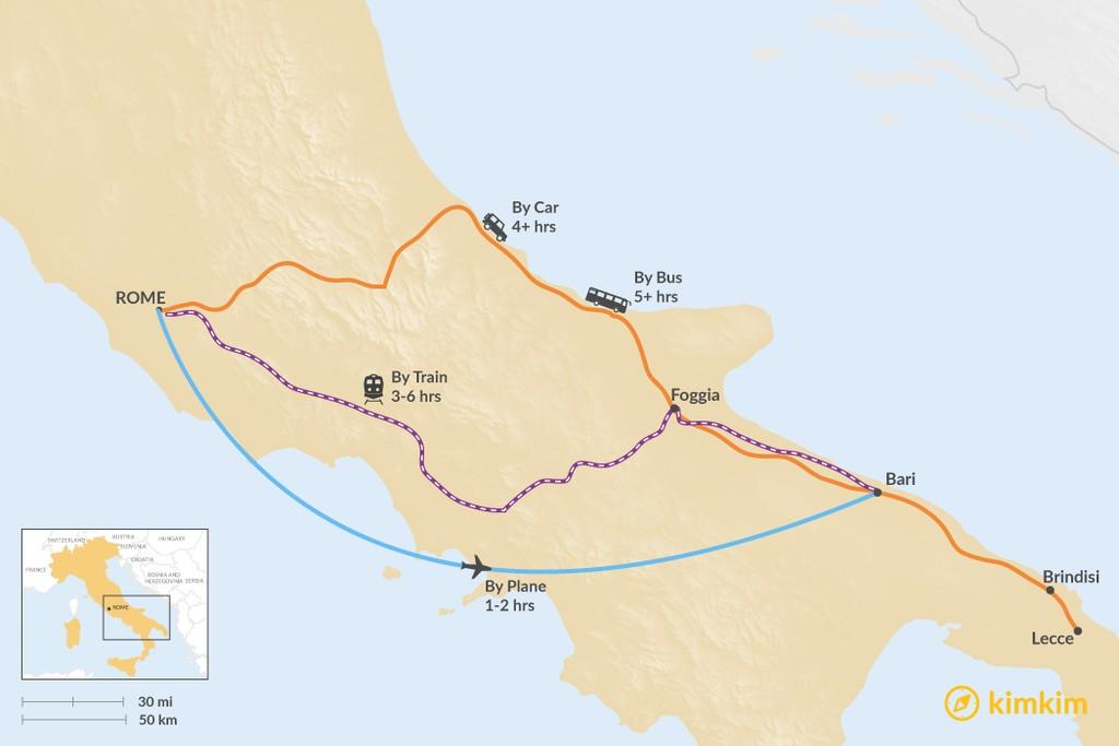 Rome To Puglia Best Routes Travel Advice Kimkim