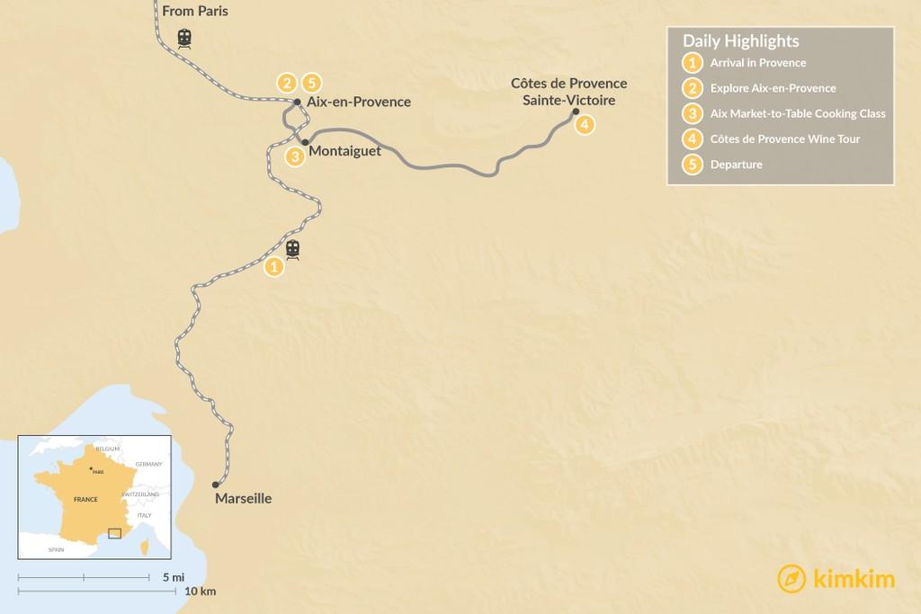 Map of Aix-en-Provence Culinary Culture - 5 Days
