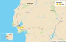 Map thumbnail of Magic of Portugal:  Lisbon, Sintra, Évora - 4 Days