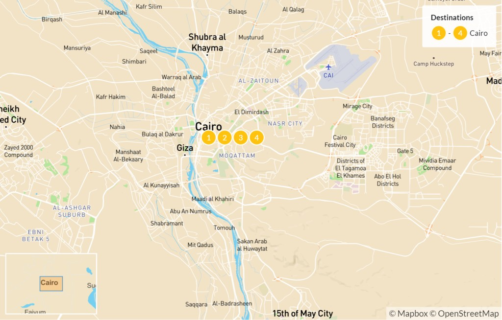 Map of Best of Cairo - 4 Days