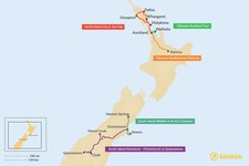 Map thumbnail of 5 Days in New Zealand - 5 Unique Itinerary Ideas