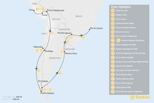 Map thumbnail of Best of South America - 21 Days