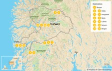 Map thumbnail of Hiking in Southern Norway - 16 Days