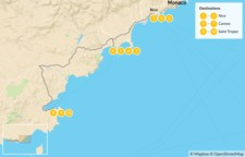 Map thumbnail of Cities & Nature in the French Riviera: Nice, Cannes, Monaco, St. Tropez, & More - 11 Days