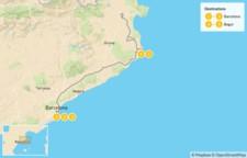 Map thumbnail of Barcelona & the Costa Brava - 6 Days