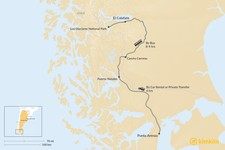 Map thumbnail of How to Get from Punta Arenas to El Calafate