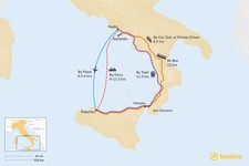 Map thumbnail of How to Get from Sorrento to Palermo