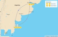 Map thumbnail of Buenos Aires & Puerto Madryn Adventure - 8 days