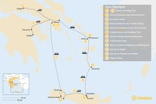Map thumbnail of Greek Panorama: Cyclades, Crete, and the Mainland - 13 Days