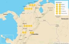 Map thumbnail of December in Colombia: Bogotá, Medellín, & Cartagena - 16 Days