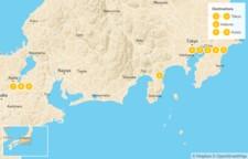 Map thumbnail of Explore Japan: Tokyo, Nikko, Hakone, & Kyoto - 10 Days