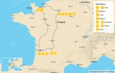 Map thumbnail of Western France Road Trip - 14 Days