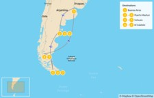 Map thumbnail of Best of Argentina: Buenos Aires to Southern Pantagonia - 10 Days