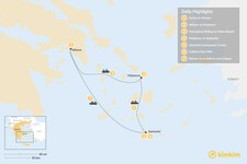 Map thumbnail of Active Athens & the Cyclades - 7 Days