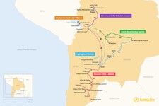 Map thumbnail of 7 Days in Bolivia - 5 Unique Itineraries