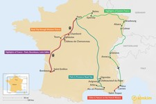 Map thumbnail of 9 Days in France - 7 Unique Itinerary Ideas