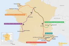 Map thumbnail of 10 Days in France - 5 Unique Itinerary Ideas