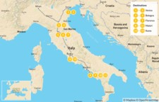 Map thumbnail of Food & Wine in Italy: Venice, Bologna, Florence, Rome, & More - 14 Days