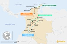 Map thumbnail of 2 Weeks in Colombia - 4 Unique Itineraries