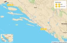 Map thumbnail of Best of Split & Dubrovnik  - 7 Days