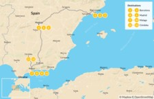 Map thumbnail of Ultimate Food, Culture & Wine Tour of Spain - 13 days