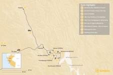 Map thumbnail of Huaraz & Cordillera Huayhuash Trekking - 9 Days