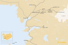 Map thumbnail of West Iceland Road Trip: Waterfalls & Saga Towns