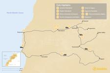 Map thumbnail of Marrakech, Atlas Mountains, and Essaouira - 9 Days
