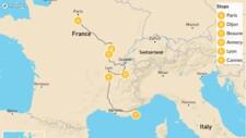 Map thumbnail of Eastern France Roadtrip: Paris, Dijon, Beaune, Annecy, & More - 12 Days