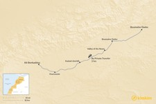 Map thumbnail of How to Get from Todra Gorge to Aït Benhaddou