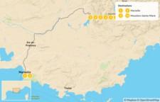 Map thumbnail of Provençal Alps Adventure: Marseille & Verdon - 11 Days