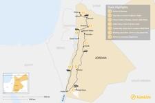 Map thumbnail of Experience Jordan: Amman, Petra, & Wadi Rum - 7 Days