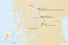 Map thumbnail of How to Get from El Chaltén to Torres del Paine