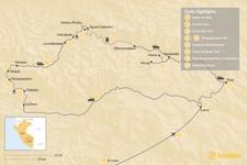 Map thumbnail of  Choquequirao Trek & Sacred Valley Adventure - 13 Days