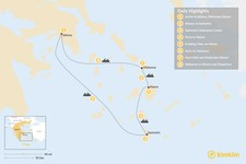 Map thumbnail of Relaxed Athens, Santorini, Naxos & Mykonos - 8 Days
