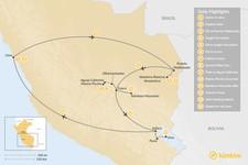 Map thumbnail of Peru Highlights & Jungle Adventure - 14 Days