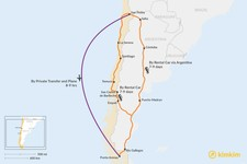 Map thumbnail of How to Get from San Pedro de Atacama to Punta Arenas