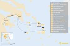 Map thumbnail of Cyclades & Peloponnese Culinary Heritage - 15 Days