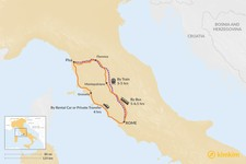 Map thumbnail of How to Get from Rome to Pisa