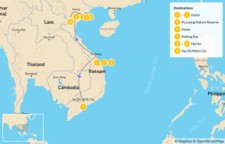 Map thumbnail of Impressions of Vietnam: Hanoi, Ha Long Bay, Hoi An, & More - 10 Days