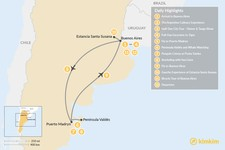 Map thumbnail of Exploring Argentina's Wildlife & Culture - 10 Days