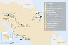 Map thumbnail of Costa Rica National Parks Adventure - 14 Days