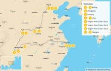 Map thumbnail of China's Ancient Capitals & Yangtze River Cruise - 14 Days
