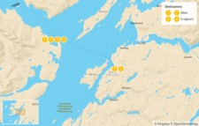 Map thumbnail of Scottish Wildlife Adventure: Mull, Staffa & Iona - Fully Guided - 7 Days