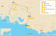 Map thumbnail of France Road Trip: Ultimate Self-Drive Tour of Provence - 13 Days