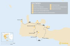Map thumbnail of Crete 101 - 8 Days