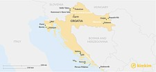 Map thumbnail of Going Off the Beaten Path in Croatia